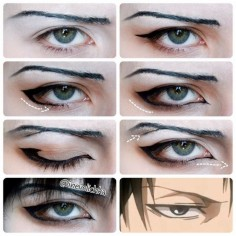 Levi Ackerman cosplay makeup tutorial