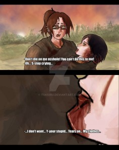 Levi and Hanji - Don't you Cry by Tokiuru