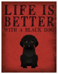 Life is Better with a Black Dog Art Print 11x14 - Custom Dog Print. $, via Etsy.