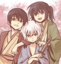 (Little) Takasugi, Gintoki, Katsura.