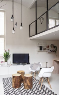 Loft. Bright living room