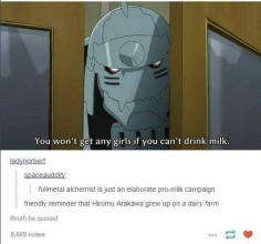 Lol love it. Fullmetal Alchemist milk