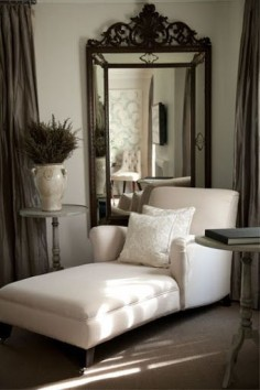 Love the corner chaise lounge - perfect place to snuggle up to a good book with a soft blanket.