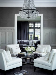 Lovely Living room - whites and Would be a beautiful living room for a small B&B!
