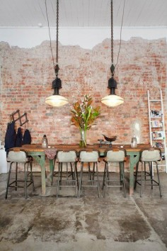 loving this industrial styled space