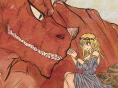 Lucy meeting Igneel for the first time. Igneel: Thank you Lucy for taking care of Natsu for me. Lucy: He has taken care of me more than I have for him. Igneel: No as much as he doesn't realize it or won't admit it you are the most important person in his life. Lucy: Thanks, I'm glad I finally met you. Igneel: Same here. Natsu: Hey whattya talking about? Igneel and Lucy: Nothing important.