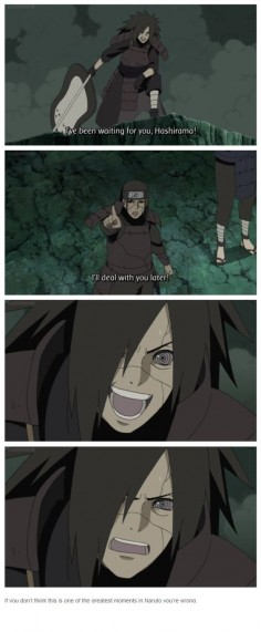 "♥ Madara & Hashirama - ""If you don't think this is one of the greatest moments in Naruto you're wrong."""