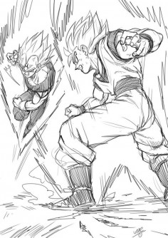 Majin Vegeta vs Goku