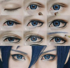 makeup cosplay eyes male - Hledat Googlem