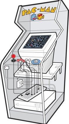mancave- diy arcade game with pc monitor