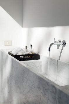Marble slab sink