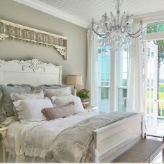Master bedroom at the farmhouse. . #CupolaRidge #FarmhouseBedroom #FarmhouseDecorating