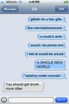 Mattie I would NOT be ursula. I would  King triton! No wait that's iggy