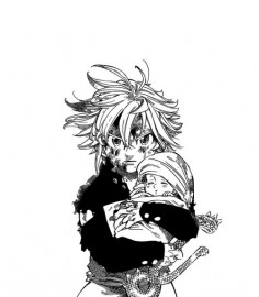 Meliodas and Elizabeth in Danafor.