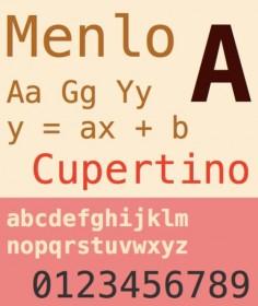 Menlo Font