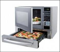 Microwave Oven with a Pizza drawer! Awesome!