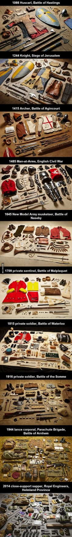 Military kit through the ages: from the Battle of Hastings to Helmand