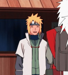 """Minato & Kushina ♥ Doesn't this remind you of a certain hero and his """"female best friend""""? Yeach cuz' that's her role right"""
