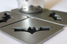 Modern Batman Coasters Set of 4, Steel, Dark Knight