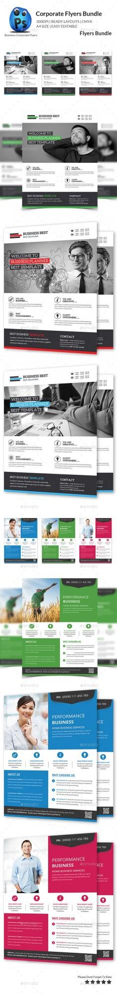 Multipurpose Business Flyer Bundle - Flyers Print Templates