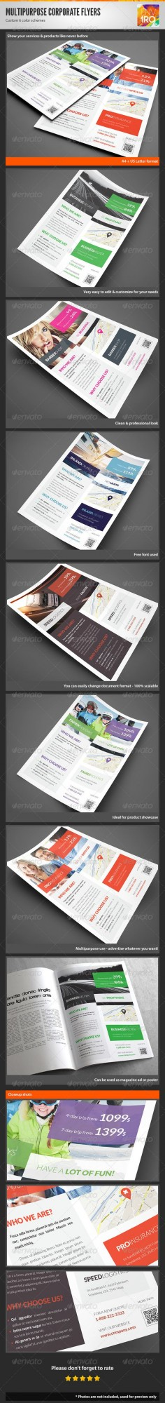 Multipurpose Corporate Flyers, Magazine Ads Vol 12 - Corporate Flyers