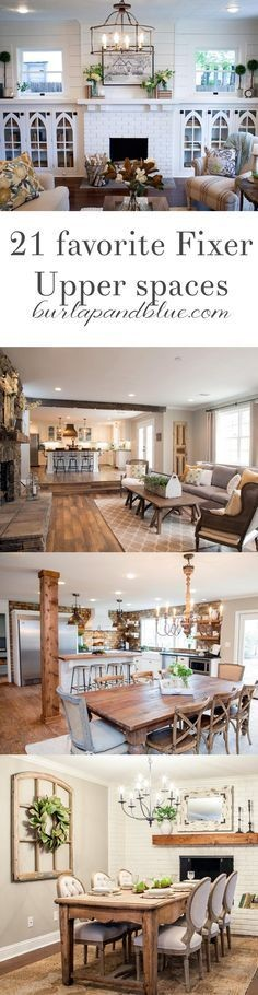 my very favorite Fixer Upper  in one blog post! Living room, dining room, bedroom 's all here!