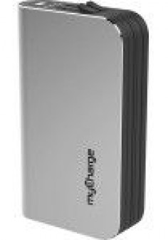 myCharge - Hub Ultra Portable Power Bank - Silver - Larger Front