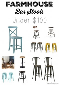 mycreativedays: Farmhouse Bar Stools Under $100