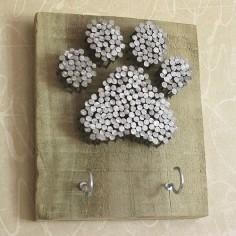 Nail Art Paw Print Dog Lead Holder
