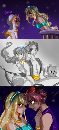Nalu Aladdin AU by NanakoBlaze on DeviantArt