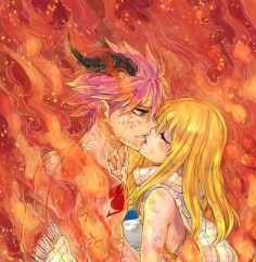 "Nalu .... ""But won't you burn, Lucy?"" ""It's you, Natsu. Any part of you could never hurt me."""