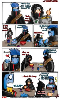Naruto funny. Itachi and Kisame eat