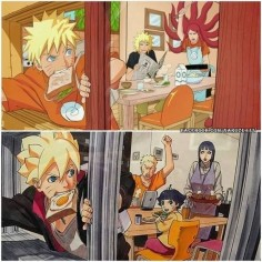 Naruto generations. Amazing how he is so like his mother. hahaha Like father, like son for Naruto and Boruto
