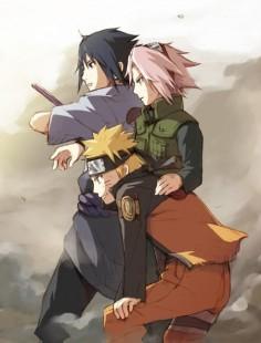 Naruto Sakura and Sasuke