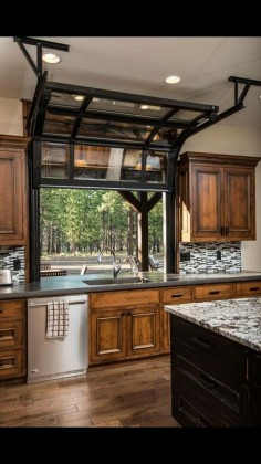 "nice Neat idea for kitchen window! Especially in a ""pole barn""house!..."