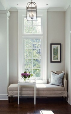 Nine Fabulous Benjamin Moore Warm Gray Paint Colors - laurel home | interior design by James Thomas | fabulous architectural detailing | mouldings | warm gray paint color