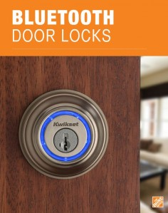 No more fumbling for your keys. This Bluetooth-enabled deadbolt turns your smartphone into your key. Just touch the Kwikset Kevo® Smart Lock to open. With the latest encryption and security enhancements, your door access is convenient and secure. See this award-winning lock at The Home Depot.