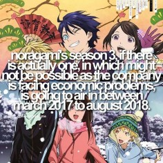 NORAGAMI FACT ahh i hope theres a season 3