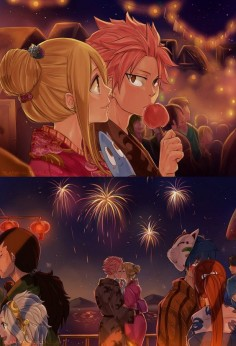 Ok, I've seen a lot of nalu pictures, but I have not seen this  ADORABLE! ❤️