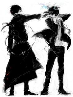 Okumura Rin & brother | Ao no Exorcist / Blue Exorcist | anime |