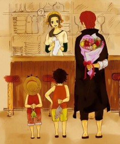 One Piece A frog ,A rat ,and flowers lol