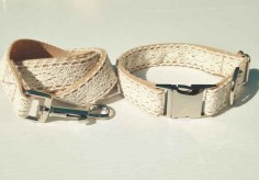 Or perhaps this lace collar and leash set.