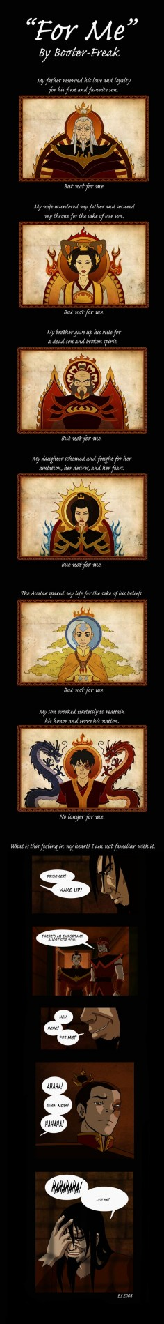 "Ozai Comic: ""For Me"" by ~Booter-Freak on deviantART"