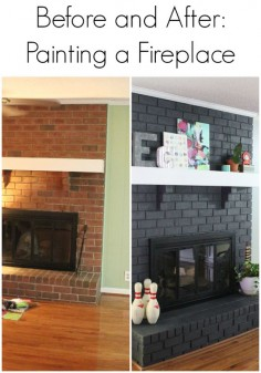 Painting a Fireplace - Before and After