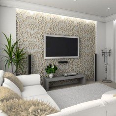 Patterned accent wall - would be great in black as well