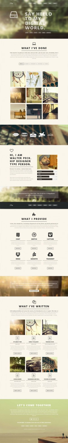 PECK - Creative One Page WordPress Theme