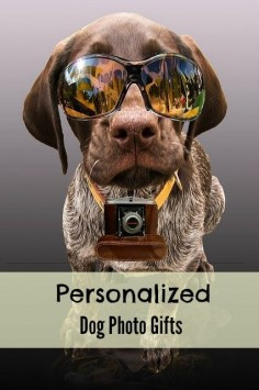 Personalized dog photo gifts for that dog lover in your life. These work great as keepsakes.