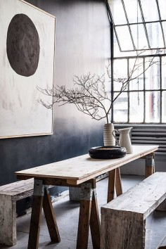 Pia Ullin's studio in New York Spaces . . . Home House Interior Decorating Design Dwell Furniture Decor Fashion Antique Vintage Modern Contemporary Art Loft Real Estate NYC Architecture Inspiration New York YYC YYCRE Calgary Eames