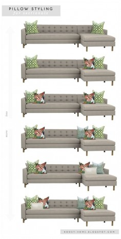 Pillow styling for sofas and sectionals