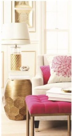#pink #pops in the living room